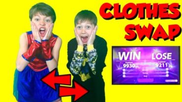 ??? Clothes Swap Challenge:  Kids! (Sister vs. Brother)  Nintendo 1 2 Switch Clothes